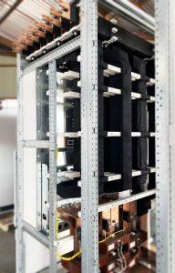 Arc-free zone insulated busbars